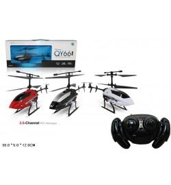Вертолет р/у QY66-X05D (36шт/2) гироскоп, 3 цвета, свет, в кор. 30*5*12см
