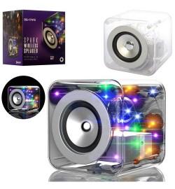 Колонка SG-1741C (24шт) куб12,5см, аккум, bluetooth, MP3, 2режіма світла, USBзаряд, в кор-ке, 16-17-15с