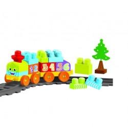 Baby Blocks Мои первые кубики - железная дорога 1,45м - 36ел. конструктор