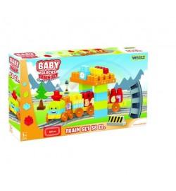 Baby Blocks Мои первые кубики - железная дорога 2,24 м - 58ел. конструктор