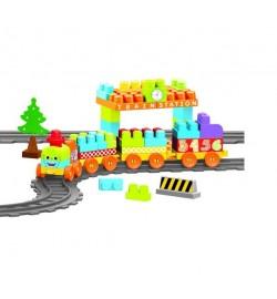 Baby Blocks Мої перші кубики - залізниця 3,35м - 89ел. конструктор