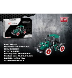 Конструктор метал.трактор SW-010 477дет.кор.36*3,8*23 /24/