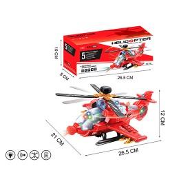 Вертолет 721 (48шт) 1:72, 26,5см, звук, свет, едет, на бат-ке, в кор-ке, 26,5-10-8см
