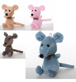 Мягкая игрушка MP 1966 (120шт) мышка, 11см, присоска, 4цвета