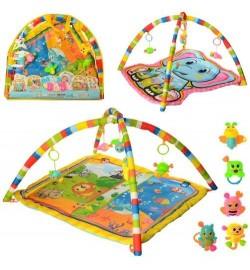 Килимок для немовляти 062-63-64 (18шт) 69-64-0,5см, дуга2шт, підвіски-погремуш.5шт, 3в, в сумці, 62-53-5с