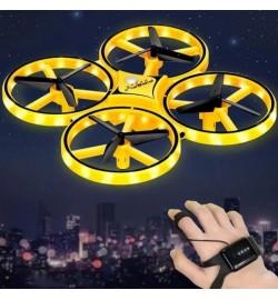 Квадрокоптер TRACker дрон с сенсорным управлением LED Желтый