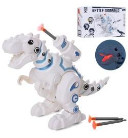 Динозавр 0839 (60шт) 25см, звук, світло, стріляє кулями, на бат-ке, в кор-ке, 23,5-16,5-10см