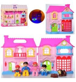Будиночок 8205-1 (36шт) 20-18-10см, звук, світло, фігурки, меблі, на бат (табл), в кор-ке, 39-28-7см
