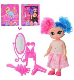 Лялька 8281B (120шт) HD, 15см, шарнірна, дзеркало, гребінець, аксесуари, 2 види, в кор-ке, 15,5-18,5-4,5см