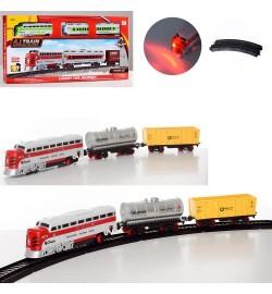 Железная дорога локомотив15см, вагон, звук, свет, ездит, 2цв, на бат-ке, в кор-ке, 47-21-4,5с
