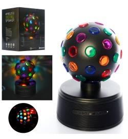 Колонка SG-1507 (12шт) диско-куля, аккум, 26-17см, bluetooth, MP3, USBзарядное, в кор-ке, 22,5-29-22,5с