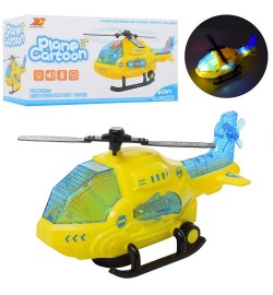 Вертолет 8042 (72шт) 24см, звук, свет, ездит, поворот360, на бат-ке, в кор-ке, 24,5-12,5-10см