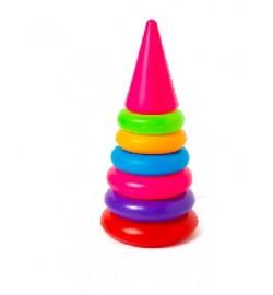 Пірамідка ---- 1 (25 см) (6 кілець) арт.017 25-12-12 см кол. в уп. 20шт