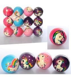 Мяч детский фомовый MS 2981-1 (240шт) 7,6см, единорог, микс видов, упаковка 12шт, 30,5-23-7,6см