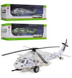Вертолет 9809 (36шт) металл, инер-й, звук, свет, 3вида, на бат(табл), в кор-ке, 30-14,5-10,5см