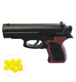 Пистолет 362 (600шт) на пульках, 13см, в кульке, 13-9,5-2,5см