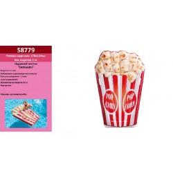 Матрас 58779 (4шт) Попкорн, 178-124см, ремкомплект, в кор-ке, плот