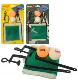 Теннисные шарики MS 3198 (60шт) 2шт, 40мм, сетка 120-12см, 2вида, в слюде, 16-29-4см