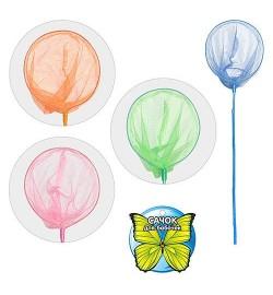 Сачок для бабочек M 0061 U/R (100шт) 4 цвета, 70-20см