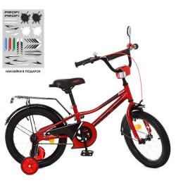 Велосипед детский PROF1 18д. Y18221 (1шт) Prime, красный,звонок,доп.колеса