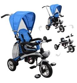 Велосипед M 3212A-6 (1шт) три кол.резина,трансформер(беговел),поворот,быстросъем.колеса,голубой