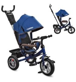 Велосипед M 3113A-11 (1шт)три кол.резина (12/10),колясочный,тормоз,подшипн,темн.син