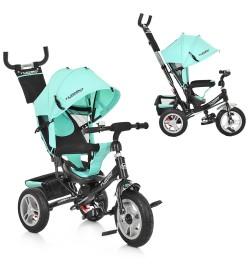 Велосипед M 3113A-15 (1шт)три кол.резина (12/10),колясочный,торм.,подшипн.,бирюзовый