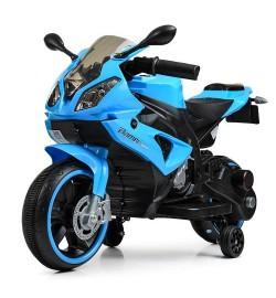 Мотоцикл M 4103-4 (1шт) 2мотора25W, 2аккум6V4AH,MP3, TF, USB, свет. колеса, синий