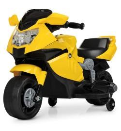 Мотоцикл M 4160-6 (1шт) 1мотор25W, 1аккум6V4AH, музыка, свет, желтый