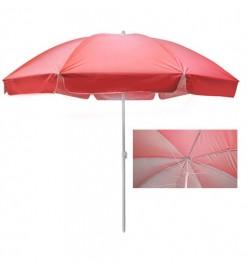 Зонт пляжный d2,5м спицы карбон, серебро MH-3322-R (10шт)