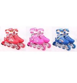 Ролики RS17007 (6шт) S(30-34) металл.рама,колеса pu 1 свет,клипса,шнурок,3 цвета