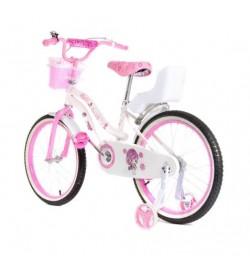 Велосипед двухколесный 16д 1706-16 розовый с корзинкой