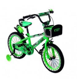 Велосипед двухколесный 16д Салатовый свет.рама и корзинка