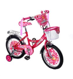 Велосипед двухколесный 16д 1702-16 малиновый с корзинкой