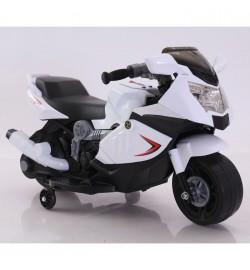 Электромобиль T-7215 WHITE мотоцикл 6V4AH мотор 1*12W 86*44*52 /1/