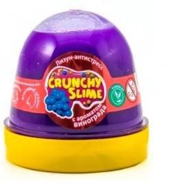 Лизун-антистрес TM Mr.Boo Crunchy slime Виноград 120г. с ароматом