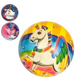 Мяч детский MS 2989 (240шт) 9дюймов, единорог, ПВХ, 50г, микс видов