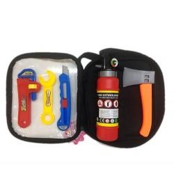 Набор инструментов 2005-302 (48шт) топор, ключ, нож, огнетушитель, в сумке, 14-22-6см