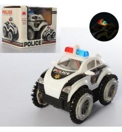 Машина GS-118 (192шт) перевертыш, полиция, 11см, свет, на бат-ке, в кор-ке, 12-10-9,5см