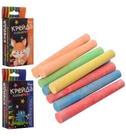 Мел MK 0092 (480шт) тонкий, 10шт, 7,5см, 35г, цветной,  в кор-ке,10-5-2см