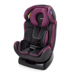 Автокресло M 3678 Pink Gray (2шт) детское, 0+1,2 (0-6лет), 3полож.спинки,5-ти точ.рем.без.,сер-роз