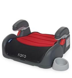 Бустер ME 1044 RORO Ruby Black (1шт) детский, с подлокотником и подстаканником, красн-черн