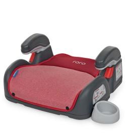 Бустер ME 1144 RORO Isofix Ruby Red (1шт) детский, изофикс, с подлокотником и подстаканником, лен,