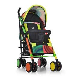 Коляска детская ME 1035 COLORITO (1шт) прогулочн,трость,колеса4шт, радуга