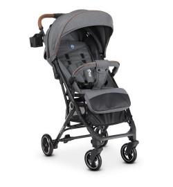 Коляска детская ME 1039L IDEA Gray (1шт) прогулочная,книжка,колеса 4шт, чехол, лен, серый