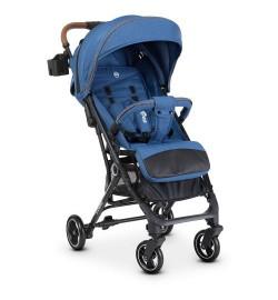 Коляска детская ME 1039L IDEA Navy (1шт) прогулочная,книжка,колеса 4шт, чехол, лен, синий
