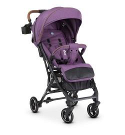 Коляска детская ME 1039L IDEA Violet (1шт) прогулочная,книжка,колеса 4шт, чехол, лен, фиолетоый
