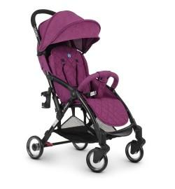 Коляска детская ME 1058 WISH Purple (1шт) прогулочная,книжка,колеса 4шт, чехол, лен, фиолет