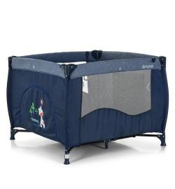 Манеж ME 1030 ARENA Blue Len (1шт) квадратный детский,вход-змейка,карман,кольцо2шт,синий