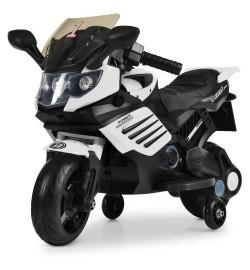Мотоцикл M 3582EL-1 (1шт) мотор 15W, аккум6V/4,5AH, колесоEVA,кож.сид, черн-бел